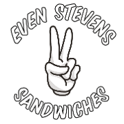 This is the restaurant logo for Even Stevens Sandwiches
