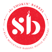 This is the restaurant logo for The Smokin' Barrel @ Blue Mountain Barrel House