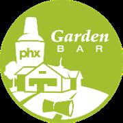 This is the restaurant logo for Garden Bar PHX