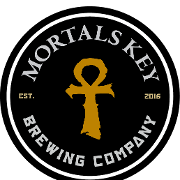 This is the restaurant logo for Mortals Key Brewing Company