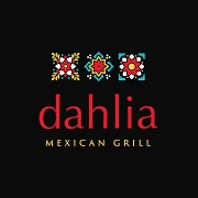 This is the restaurant logo for Dahlia Mexican Grill