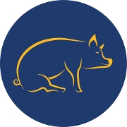 This is the restaurant logo for The Ginger Pig