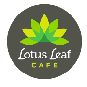 This is the restaurant logo for Lotus Leaf Cafe