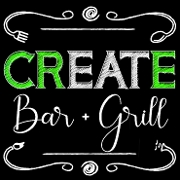 This is the restaurant logo for Create Bar and Grill