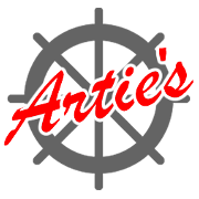 This is the restaurant logo for Artie's South Shore Fish Market & Grill