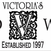 This is the restaurant logo for Victoria's Wine & Dine