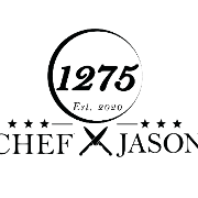 This is the restaurant logo for Chef Jason at 1275