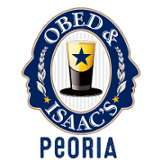 This is the restaurant logo for Obed and Isaac's-Peoria