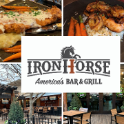 This is the restaurant logo for Ironhorse Bar & Grill