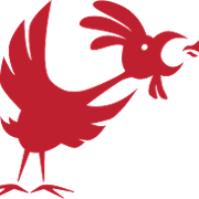 This is the restaurant logo for Chikn
