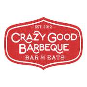 This is the restaurant logo for Crazy Good Barbeque