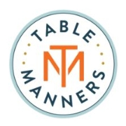This is the restaurant logo for Table Manners Food + Social