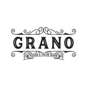 This is the restaurant logo for Grano Pizzeria & Italian Tavern