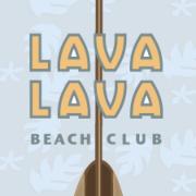 This is the restaurant logo for Lava Lava Beach Club - Kauai