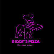 This is the restaurant logo for Diggy's Pizza (175 Littleton Rd. Westford, MA)