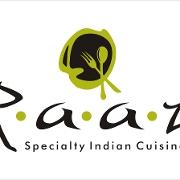 This is the restaurant logo for Raaz
