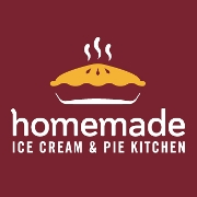 This is the restaurant logo for Homemade Ice Cream & Pie Kitchen