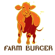 This is the restaurant logo for Farm Burger