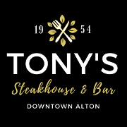 This is the restaurant logo for Tony's Steakhouse & Bar
