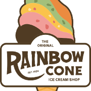 This is the restaurant logo for Original Rainbow Cone - Western