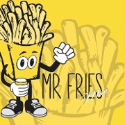 This is the restaurant logo for Mr. Fries Man *Gardena*