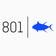 This is the restaurant logo for 801 Fish - St. Louis