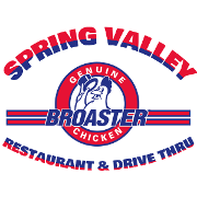This is the restaurant logo for Spring Valley Restaurant & Drive Thru