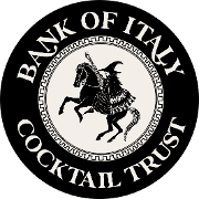 This is the restaurant logo for Bank of Italy Cocktail Trust