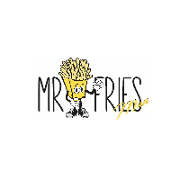 This is the restaurant logo for Mr. Fries Man USC LA