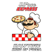 This is the restaurant logo for Halftime Pizza - Boston