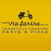 This is the restaurant logo for Via Farina