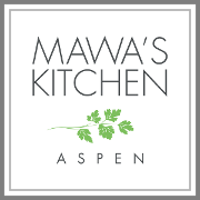 This is the restaurant logo for Mawa's Kitchen