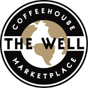This is the restaurant logo for The Well Coffeehouse and Marketplace