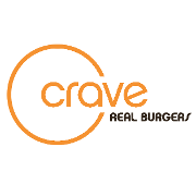 This is the restaurant logo for Crave Real Burgers