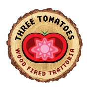 This is the restaurant logo for Three Tomatoes Trattoria