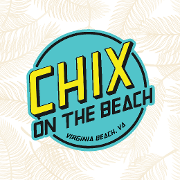 This is the restaurant logo for Chix on the Beach