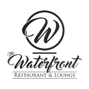 This is the restaurant logo for The Waterfront Restaurant & Lounge