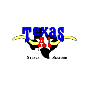 This is the restaurant logo for Texas A1 Steaks & Seafood