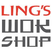 This is the restaurant logo for Ling's Wok Shop