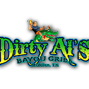This is the restaurant logo for Dirty Al's Bayou Grill
