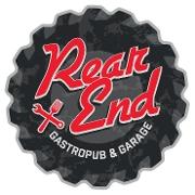 This is the restaurant logo for Rear End Gastropub & Garage