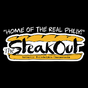 This is the restaurant logo for The SteakOut