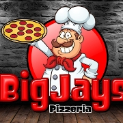 This is the restaurant logo for Big Jay's Pizzeria