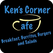 This is the restaurant logo for Z Ken's Corner Cafe