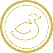 This is the restaurant logo for The Lucky Duck Gastropub