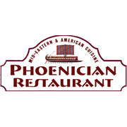 This is the restaurant logo for The Phoenician Restaurant