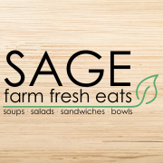 This is the restaurant logo for Sage - Farm Fresh Eats
