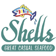This is the restaurant logo for Shells Seafood