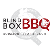 This is the restaurant logo for Blind Box BBQ