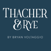 This is the restaurant logo for Thacher & Rye
